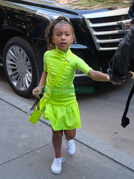 September 29 2018, New York City<br /> <br /> Kim Kardashian goes out in Soho with her daughter North West on September 29 2018 in New York City