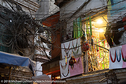 Typical overhead wires in Kathmandu after our Himalayan motorcycling adventure, Nepal. Friday, November 16, 2018. Photography ©2018 Michael Lichter.