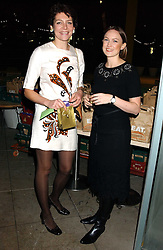 Left to right, THOMASINA MIERS and ANNABEL BUCKINGHAM at a party to celebrate the publication of Soup Kitchen by Annabel Buckingham and Thomasina Miers held at Eat. Royal Festival Hall, London SE1 on 1st November 2005.<br /><br />NON EXCLUSIVE - WORLD RIGHTS