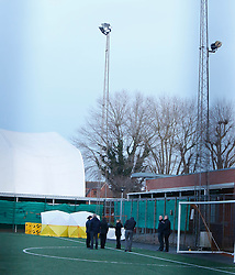 """Portsmouth ,Hampshire Police 18th January 2016 Police and city council investigating whether 34-year-old man, named locally as Albert Xhediku, was electrocuted outside leisure centre<br /> Officers  are investigating the death of a 34-year-old man who is believed to have been electrocuted on an outdoor football pitch.<br /> <br /> Police and an ambulance were called to the Mountbatten Leisure Centre in Portsmouth, Hampshire, at 6.40pm on Sunday after the man, named locally as Albert Xhediku, fell unconscious on the artificial pitch.<br /> <br /> Xhediku, who is understood to have been a taxi driver, was taken by ambulance to the Queen Alexandra hospital in Portsmouth where he later died.<br /> <br /> DI Paul Southey of Hampshire police said: """"The area remains cordoned off and will remain so for the rest of today as our investigations continue.<br /> We are keen to speak to anyone who thinks they have any information which could be relevant to this incident."""" UKNIP<br /> <br /> A force spokeswoman confirmed that they were investigating the possibility that Xhediku was electrocuted. Police are investigating the death alongside Portsmouth city council.<br /> <br /> The outdoor pitch at the leisure centre is laid with artificial turf and is surrounded by a metal fence.<br /> <br /> A spokesman for Parkwood Community Leisure, which operates the Mountbatten Leisure Centre on behalf of the council, said: """"We have launched a formal investigation into this incident alongside our health and safety consultants from the Royal Society for the Prevention of Accidents.<br /> <br /> """"We extend our deepest sympathy and condolences to the gentleman's family and friends at this difficult time."""" . ©UKNIP"""