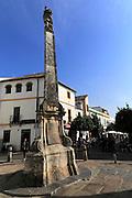 Historic buildings around Plaza del Potro square in old city part of Cordoba, Spain