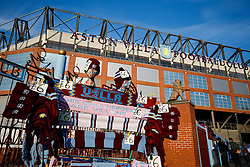 Aston Villa scarves on sale outside Villa park - Photo mandatory by-line: Rogan Thomson/JMP - 07966 386802 - 07/04/2015 - SPORT - FOOTBALL - Birmingham, England - Villa Park - Aston Villa v Queens Park Rangers - Barclays Premier League.