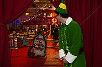 Christmas Village opening night with Mayor Benjamin Phillips.  Karen Bobotas for the Laconia Daily Sun