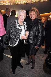 Left to right, JUNE WHITFIELD and ELAINE PAIGE at a tribute lunch in honour of Michael Aspel hosted by The Lady Taverners at The Dorchester, Park Lane, London on 14th November 2008.
