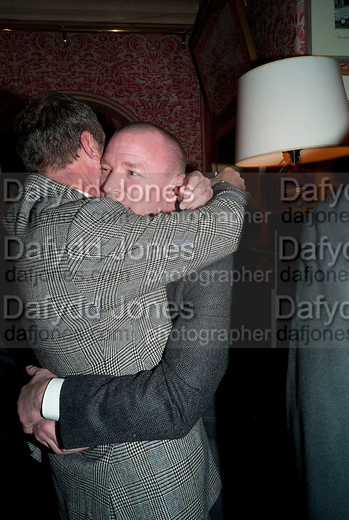 A.A. GILL; GUY RITCHIE, Graydon Carter hosts a diner for Tom Ford to celebrate the London premiere of ' A Single Man' Harry's Bar. South Audley St. London. 1 February 2010