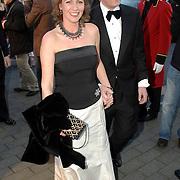 NLD/Hilversum/20070312 - Inloop verjaardagsfeest Joop van den Ende 65 jaar, Bernhard Jr. en partner Anette Sekreve