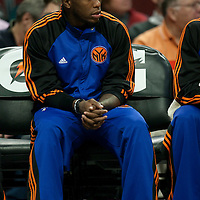 17 December 2009: New York Knicks Nat Robinson is seen on the bench during the Chicago Bulls 98-89 victory over the New York Knicks at the United Center, in Chicago, Illinois, USA.