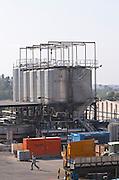 outside fermentation tanks. Fermentation tanks. Raimat Costers del Segre Catalonia Spain