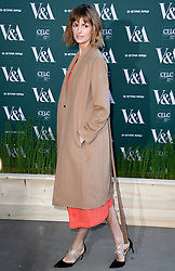 Jacquetta Wheeler attending the VIP preview for the V&A Museum's Fashioned From Nature exhibition, in London. Photo credit should read: Doug Peters/EMPICS Entertainment