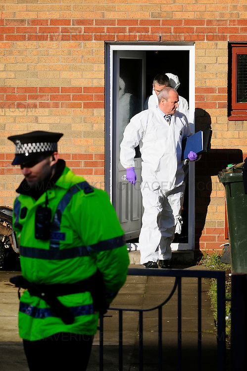 Police raided a home at 39 Bingham Broadway in Niddrie this morning.