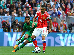 June 14, 2018 - Moscow, Russia - 14 June 2018, Russia, Moscow, FIFA World Cup, First Round, Group A, First Matchday, Russia vs Saudi Arabia at the Luzhniki Stadium. Player Alexander Samedov  (Credit Image: © Russian Look via ZUMA Wire)