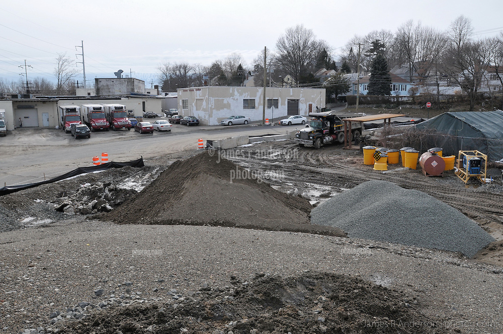 Construction Site of the Railroad Station at Fairfield Metro Center. Site visit 19, Materials