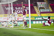 GOAL  Burnley forward Joel Mumbongo (46) score to make it 1-1during the FA Cup match between Burnley and Milton Keynes Dons at Turf Moor, Burnley, England on 9 January 2021.
