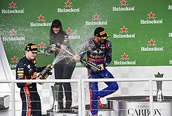 November 17, 2019, Sao Paulo, Brazil: Motorsports: FIA Formula One World Championship 2019, Grand Prix of Brazil, . #10 Pierre Gasly (FRA, Red Bull Toro Rosso Honda), .#33 Max Verstappen (NLD, Aston Martin Red Bull Racing) (Credit Image: © Hoch Zwei via ZUMA Wire)
