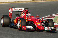 RAIKKONEN kimi (fin) ferrari sf15t action during Formula 1 winter tests 2015 at Barcelona, Spain from February 19th to 22nd. Photo DPPI / Florent Gooden.