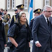 LUX/Luxemburg/20190504 -  Funeral<br /> of HRH Grand Duke Jean, Uitvaart Groothertog Jean, Prins Laurent en prinses Lea van Belgie