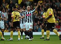 Photo: Tony Oudot/Sportsbeat Images.<br /> Watford v West Bromwich Albion. Coca Cola Championship. 03/11/2007.<br /> Kevin phillips of West Brom celebrates his goal