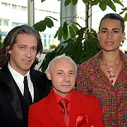 NLD/Amsterdam/20060409 -  Première Black Pinocchio, Rocco Leenders, Ronald Kolk en Cynthia Leuwsha