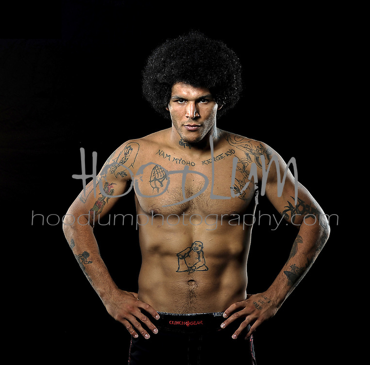 Portrait of MMA Cage Fighter Jeremiah Talley taken for Prize Fighting Championship