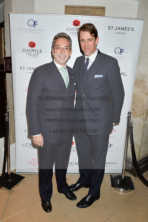 LONDON, ENGLAND 29 NOVEMBER 2016: Councillor Robert Davis, Ben Elliot at the Fayre of St James's hosted by Quintessentially Foundation and the Crown Estate in aid of Cheryl's Trust in support of The Prince's Trust held at St.James's Church, Piccadilly, London, England. 29 November 2016.