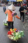 Old quarter of Hanoi, Vietnam.