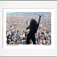 """Paul Rodgers - An affordable archival quality matted print ready for framing at home.<br /> Ideal as a gift or for collectors to cherish, printed on Fuji Crystal Archive photographic paper set in a neutral mat (all mounting materials are acid free conservation grade). <br /> The image (approx 6""""x8"""") sits within a titled border. The outer dimensions of the mat are approx 10""""x12""""."""