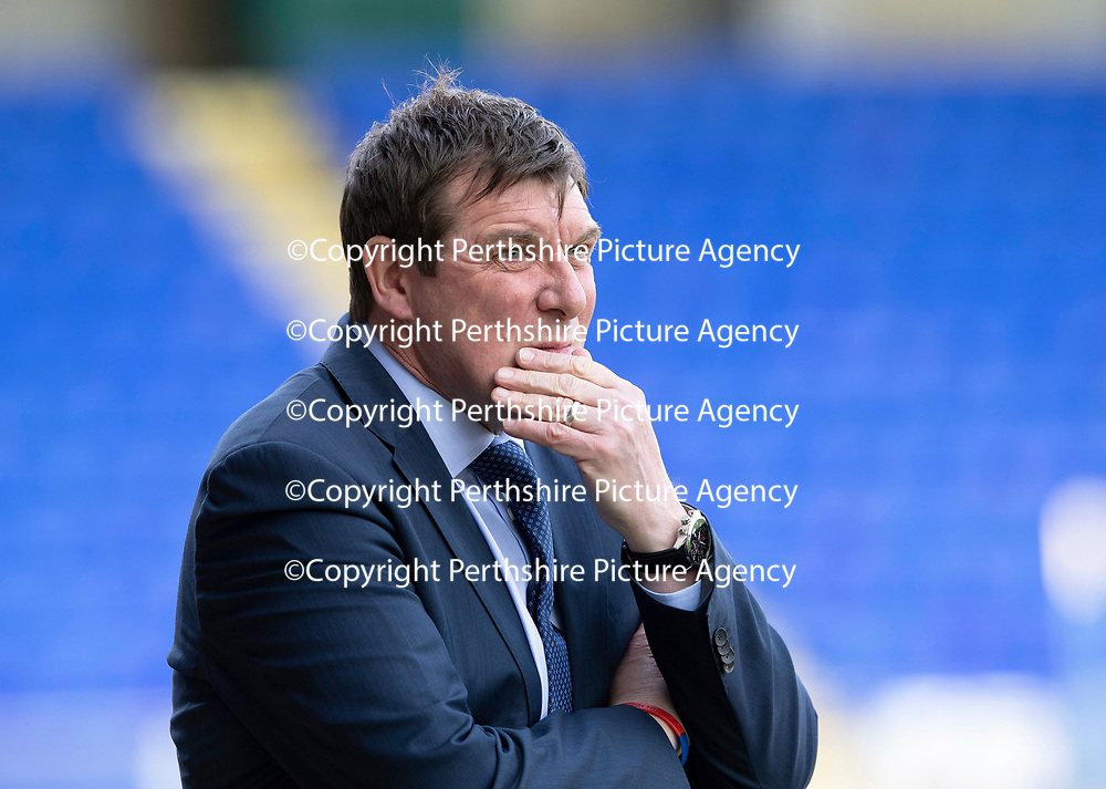St Johnstone v Ross County…12.05.18…  McDiarmid Park    SPFL<br />Saints manager Tommy Wright<br />Picture by Graeme Hart. <br />Copyright Perthshire Picture Agency<br />Tel: 01738 623350  Mobile: 07990 594431
