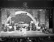 05/02/1958 <br /> 02/05/1958<br /> 05 February 1958<br /> <br /> Odeon Ireland Ltd., Theatre Royal, stage set for Rainbow Quiz