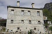 Greece, Epirus, Zagorria, Stone mansion