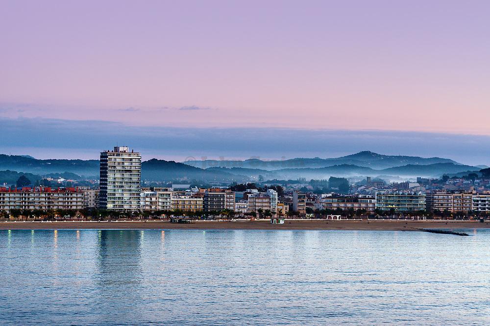 Panoramic view Calonge, Catalonia, Spain