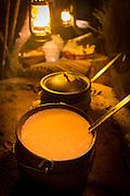 Shorbat Adas (Lentil soup), starter of traditional meal in desert, United Arab Emirates