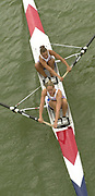 Seville, Andalusia, SPAIN<br /> <br /> 2002 World Rowing Championships - Seville - Spain Sunday 15/09/2002.<br /> <br /> Rio Guadalquiver Rowing course<br /> <br /> GBR W2- Beverley Gough and Rose Carslake<br /> <br /> [Mandatory Credit:Peter SPURRIER/Intersport Images]