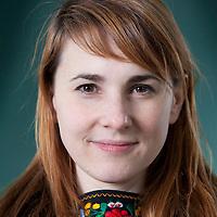 Karrie Fransman,  graphic novel artist, at the Edinburgh International Book Festival 2015.<br /> Edinburgh, Scotland. 28th August 2015 <br /> <br /> Photograph by Gary Doak/Writer Pictures<br /> <br /> WORLD RIGHTS