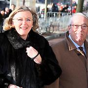 NLD/Amsterdam/20080201 - Verjaardagsfeest Koninging Beatrix en prinses Margriet, Louis van Dijk en partner Aleid Boersma