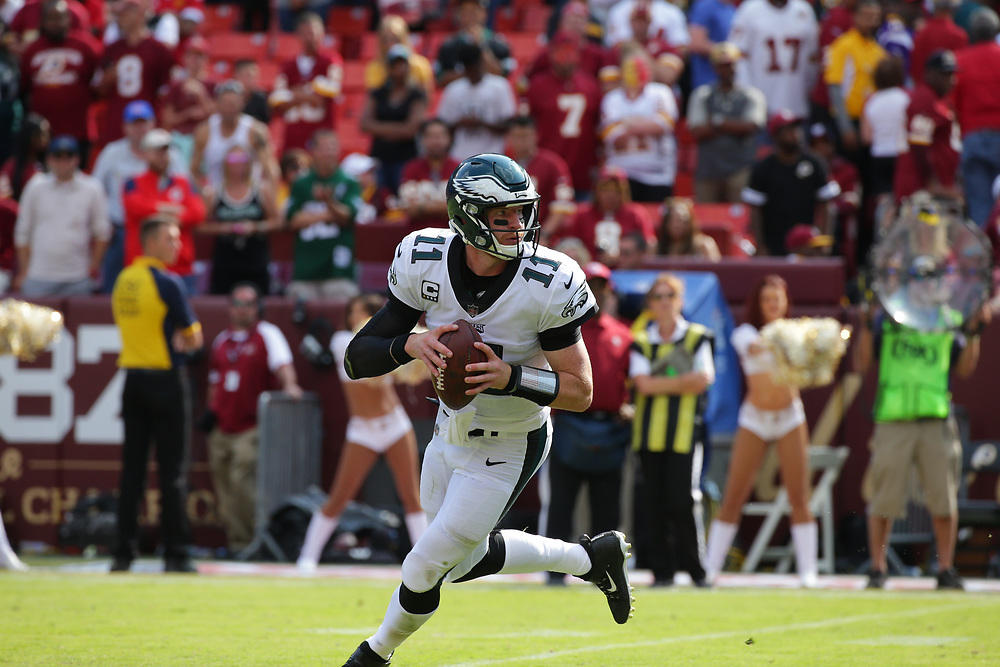 2017 Philadelphia Eagles at Washington Redskins at FedEx Field Field on September 10, 2017 in Landover, Maryland. The Eagles won 30-17. (Photo by Hunter Martin/Philadelphia Eagles)