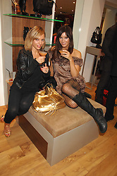 Left to right, VANESSA GALLAGHER and Model CATALINA GUIRADO at the official launch of Kate Kuba & UGG Australia store, 22 Duke of York Square, London SW3 on 10th October 2007.<br /><br />NON EXCLUSIVE - WORLD RIGHTS