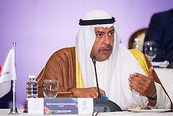 JAKARTA, Aug. 19,2018  Sheikh Ahmad Al-Fahad Al-Sabah, the Olympic Council of Asia's (OCA) President, speaks at the 37th Olympic Council of Asia (OCA) General Assembly in Jakarta, Indonesia, on Aug. 19, 2018. (Credit Image: © Cheong Kam Ka/Xinhua via ZUMA Wire)