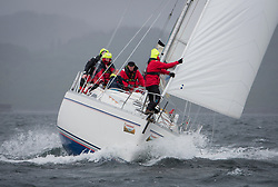 Clyde Cruising Club's Scottish Series 2019<br /> 24th-27th May, Tarbert, Loch Fyne, Scotland<br /> <br /> Day 2 Wet & Wild on Loch Fyne.<br /> <br /> 4040C, Lemarac, Clyde Cruising Club, Moody 38<br /> <br /> <br /> Credit: Marc Turner / CCC