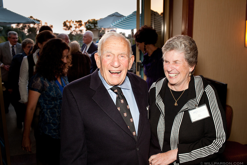 ARCS Scientist of the Year (1993) Dr. Walter Munk and Mary Coakley.