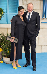 © Licensed to London News Pictures. 16/07/2018. London, UK. Megan Everett and Stellan Skarsgard attends the Mamma Mia! Here We Go Again World Film Premiere at Eventime Apollo Hammersmith. Photo credit: Ray Tang/LNP