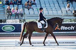 Sophie Wells, (GBR), Valerius - Team Competition Grade IV Para Dressage - Alltech FEI World Equestrian Games™ 2014 - Normandy, France.<br /> © Hippo Foto Team - Jon Stroud <br /> 25/06/14