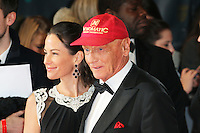 Niki Lauda, British Academy Film Awards - BAFTAS, Royal Opera House, London UK, 16 February 2014, Photo by Richard Goldschmidt