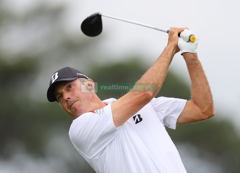 April 7, 2018 - Augusta, GA, USA - Matt Kuchar hits from the 1st tee during the third round of the Masters Tournament on Saturday, April 7, 2018, at Augusta National Golf Club in Augusta, Ga. (Credit Image: © Curtis Compton/TNS via ZUMA Wire)