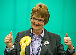 Lib Dem candidate for North East Fife Elizabeth Riches looks confident before the second recount.<br /> <br /> © Dave Johnston/ EEm