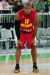 Omar Cook of Montenegro at friendly match between Slovenia and Montenegro for Adecco Cup 2011 as part of exhibition games before European Championship Lithuania on August 7, 2011, in SRC Stozice, Ljubljana, Slovenia. (Photo by Matic Klansek Velej / Sportida)