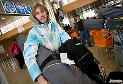 Slovenian ski jumper Primoz Pikl at arrival to Airport Joze Pucnik from Vancouver after Winter Olympic games 2010, on February 24, 2010 in Brnik, Slovenia. (Photo by Vid Ponikvar / Sportida)