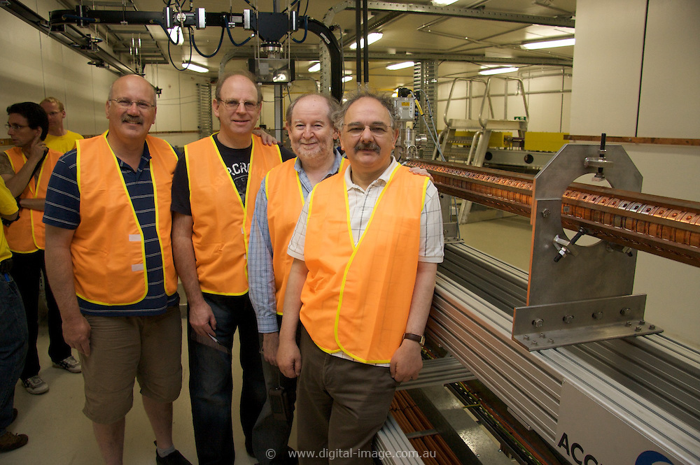 Australian Synchrotron Open Day 2008, Aaron Blicblan, Joel Gotlib, Dr Burt Kuran and Leon Deutsch
