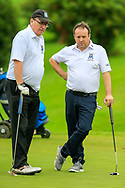 Noel Malone (Ardee) and Keith Taaffe (Ardee) during the final round of the All Ireland Four Ball Inter club Final, Roe Park resort, Limavady, Derry, Northern Ireland. 15/09/2019.<br /> Picture Fran Caffrey / Golffile.ie<br /> <br /> All photo usage must carry mandatory copyright credit (© Golffile | Fran Caffrey)