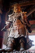 Guardian Todai-ji inside the Todai, The Great Buddha, temple Nara Japan