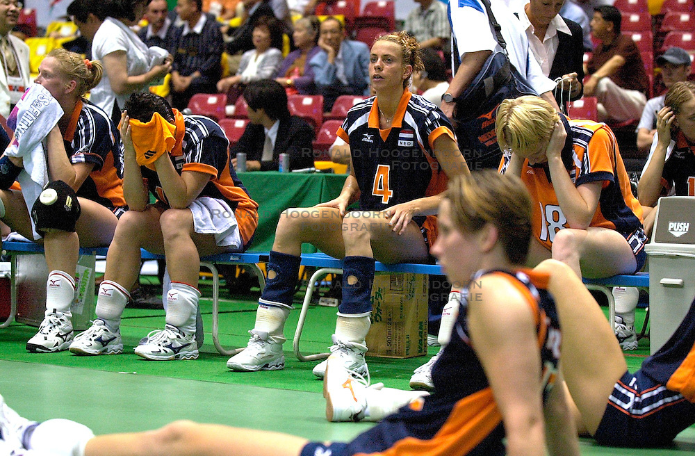 21-06-2000 JAP: OKT Volleybal 2000, Tokyo<br /> Nederland - Croatie 2-3 / Ellen Koopman, Erna Brinkman
